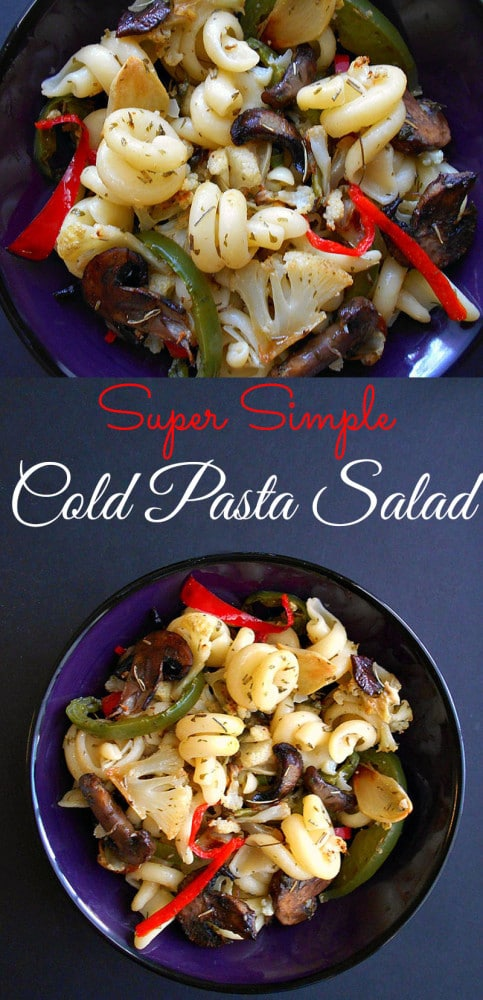 A simple cold pasta salad recipe that is perfect weeknight meal idea. Works as the main course meal or as a side dish. This is a vegan recipe and even vegetarians meal. It is a quick dinner idea for the whole family. Made with Tortolle Pasta