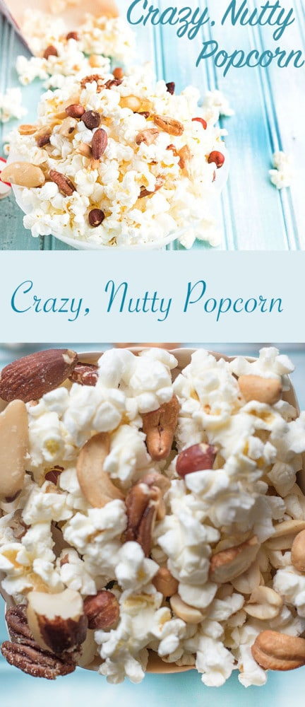 If you are looking for movie popcorn recipe, make this quick, healthy crazy, nutty popcorn recipe. Take popped popcorn and add all kinds of nuts to it. #healingtomato #popcorn #mixednuts