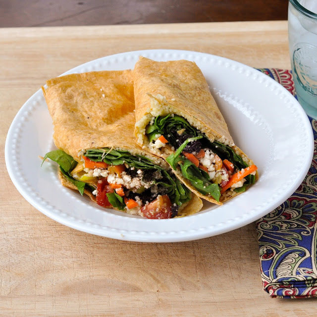 Greek Veggie Wraps - Greek Vegan Recipes
