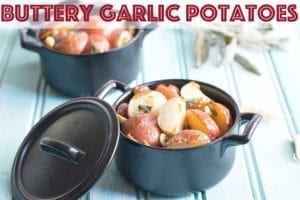 Garlic Butter Potatoes are so delicious that they will make you drool! Made using Revol individual pans, they are the perfect side dish for the whole family