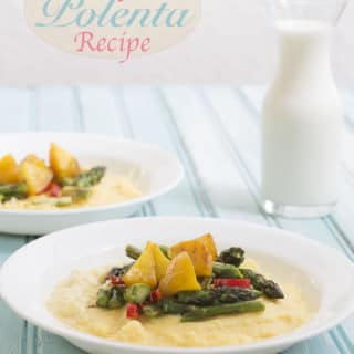 Simple polenta recipe made with fresh asparagus and gold beets. The asparagus give flavor and texture, beets add a sweetness. Florida Milk Farmers