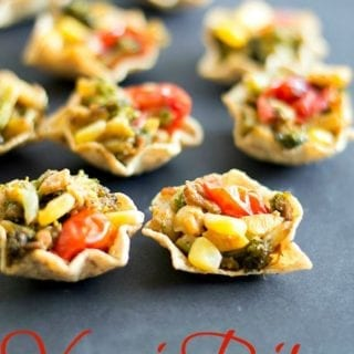 Simple veggie bites that are made with fresh veggies and dry herbs, they make eating chips a slightly healthier sport. Vegan snack that even kids can enjoy.