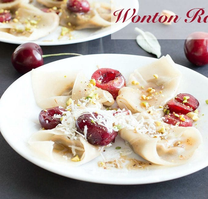 Wonton Ravioli With Brown Butter Sauce