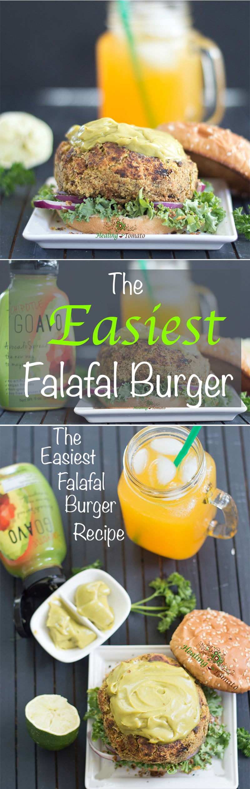 This falafal burger is the best veggie burger you will every eat. Made with chickpeas, parsley and flax seed meal. Takes only 30 minutes to make