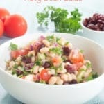 Looking for salad recipes that also counts as vegan recipes? Navy Beans Salad is very healthy, quick salad idea. Made with Parsely & all healthy ingredients
