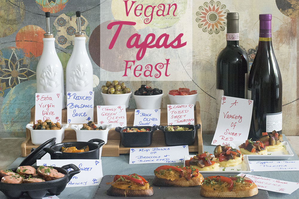 A spread of vegan tapas recipes