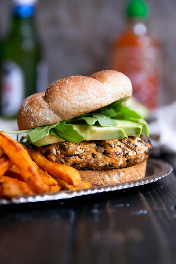 Ambitious Kitchen Sweet Potato Rice Burgers - A dried cranberry recipe doesn't have to be for a Thanksgiving feast. Dried Cranberries are versatile & can be put into any recipe. 10 Lunch and Dinner meal