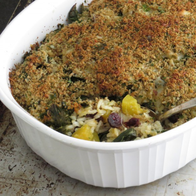 Garlic and Zest - Kale And Butternut Gratin - A dried cranberry recipe doesn't have to be for a Thanksgiving feast. Dried Cranberries are versatile & can be put into any recipe. 10 Lunch and Dinner meal