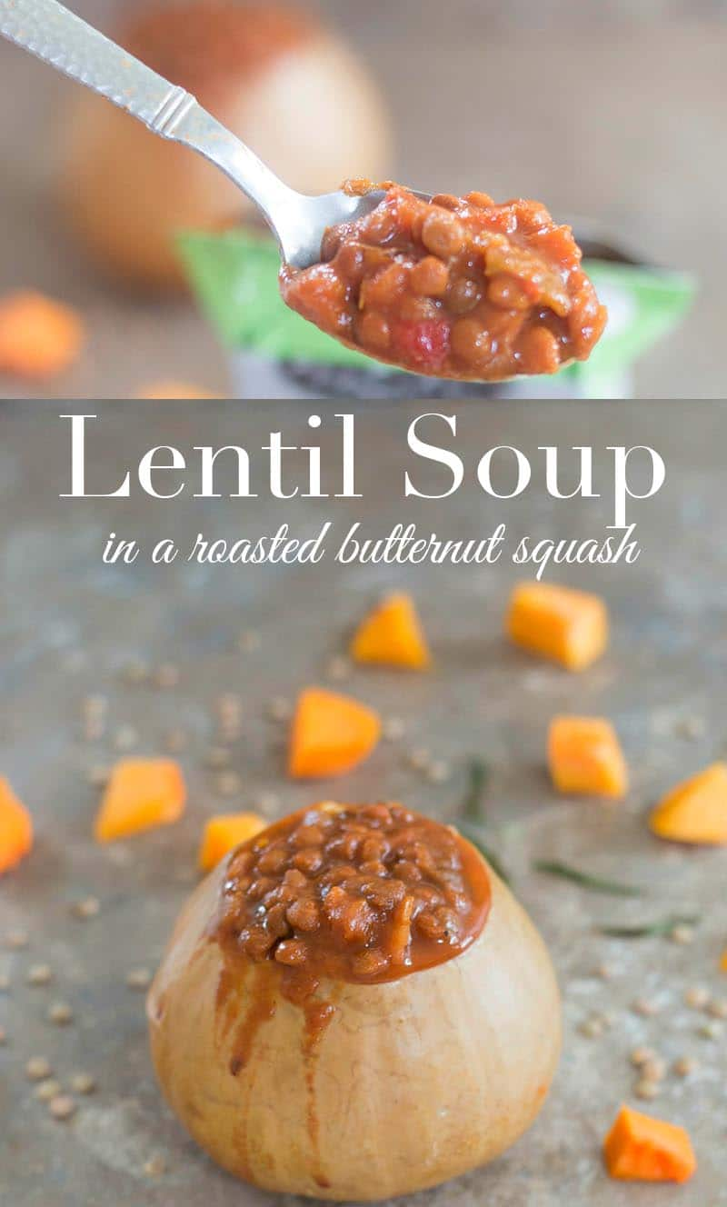 Lentil Soup is part of Progresso's Good Natured Soup. I served it in a roasted butternut squash. It is non-GMO, vegan & no preservatives. 20 minutes to make