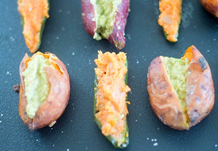 Easy sweet potato and jalapeno appetizers that make perfect game day snacks. Takes only 30 minutes to make. They are vegan and vegetarian recipes.