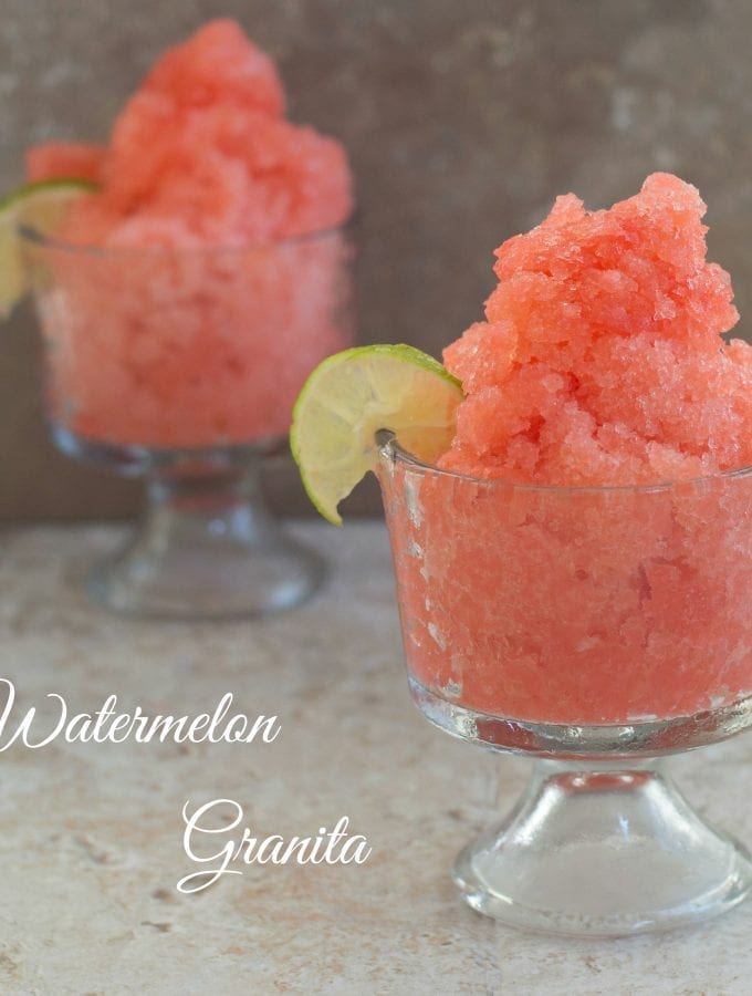 This Watermelon Granita recipe is the perfect cool down recipe. Made with fresh watermelon, it is the perfect summer recipe for shaved ice.