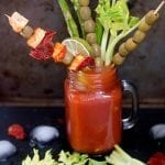 Vegan brunch Bloody Mary made from Healing Tomato's recipe e-book