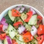 Vegan brunch salad made from Healing Tomato's recipe e-book