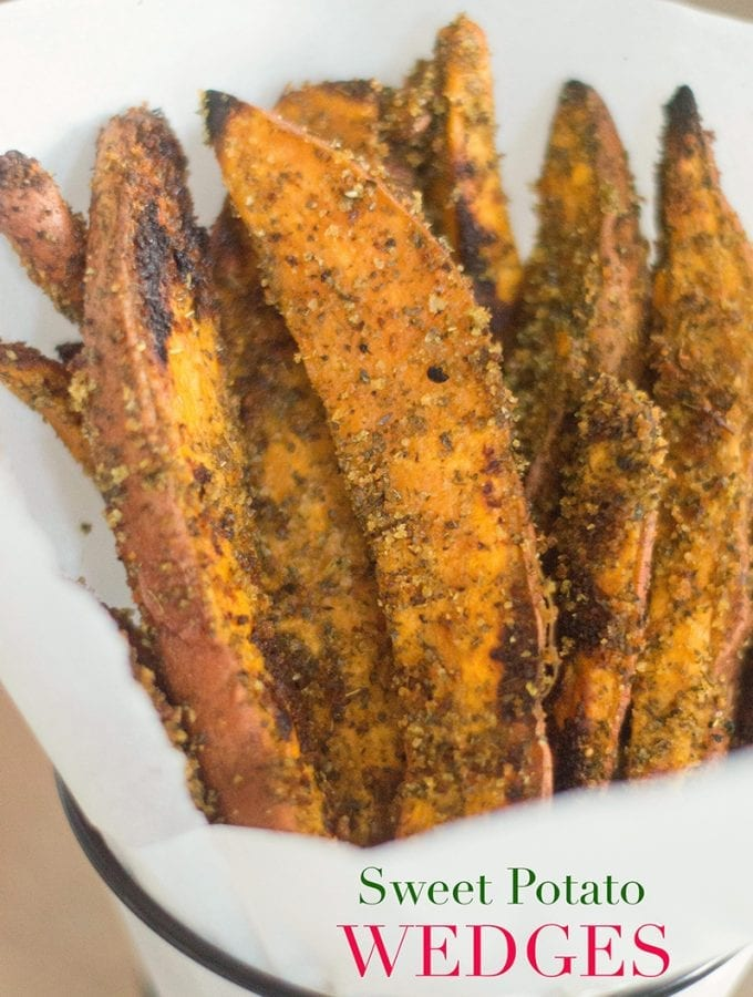 Sweet Potato Wedges (Baked Not Fried)