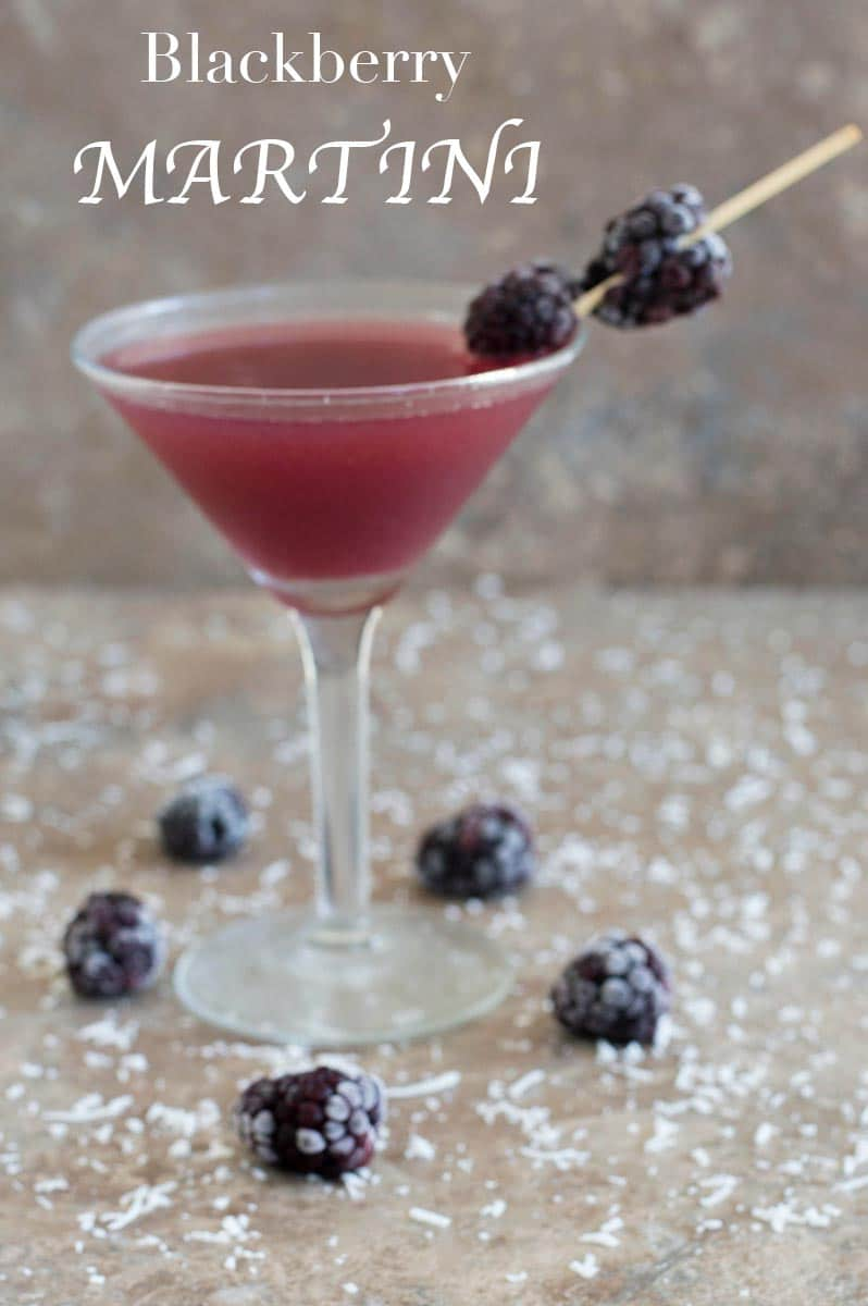 This blackberry martini is a gin martini recipe. Takes only a few ingredients. I added coconut rum and pineapple juice