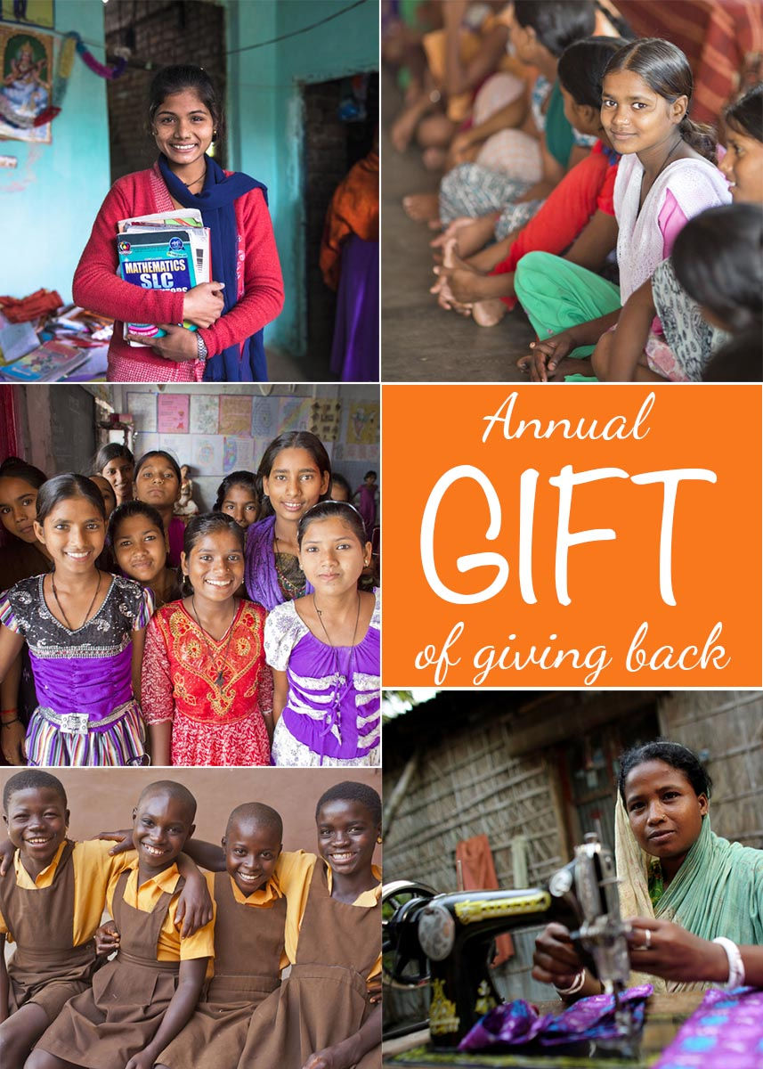 Through CARE.org, my annual gift giving is now a tradition. There are so many simple, easy ways to help others. Just a few dollars help turn one person's life around