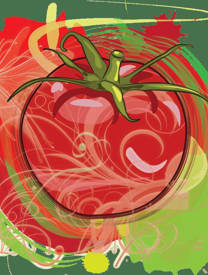 Healing Tomato Logo - Celebrating Vegetarian Cuisine