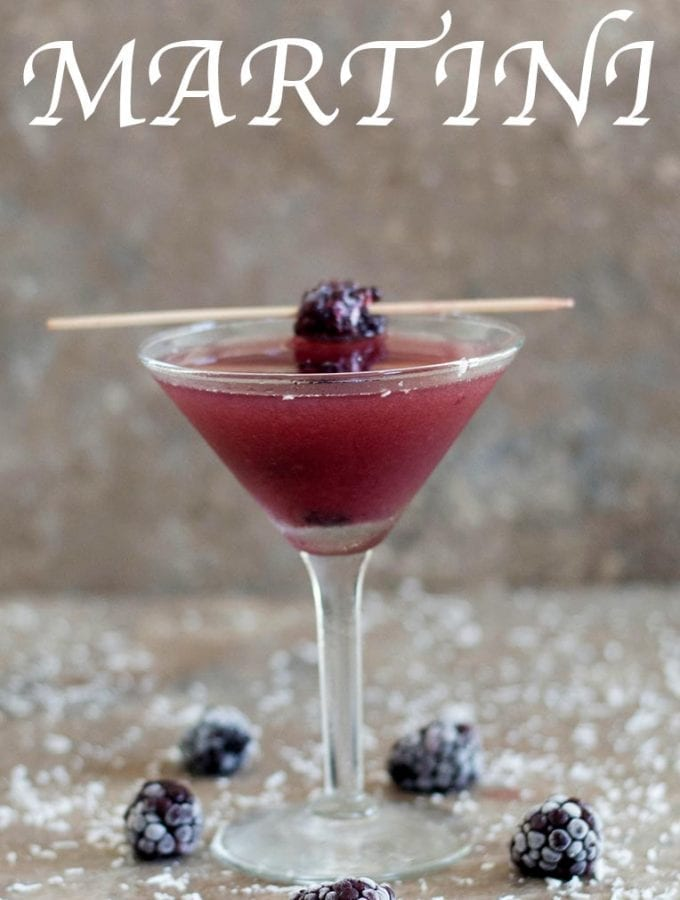 Blackberry Martini With Coconut Rum