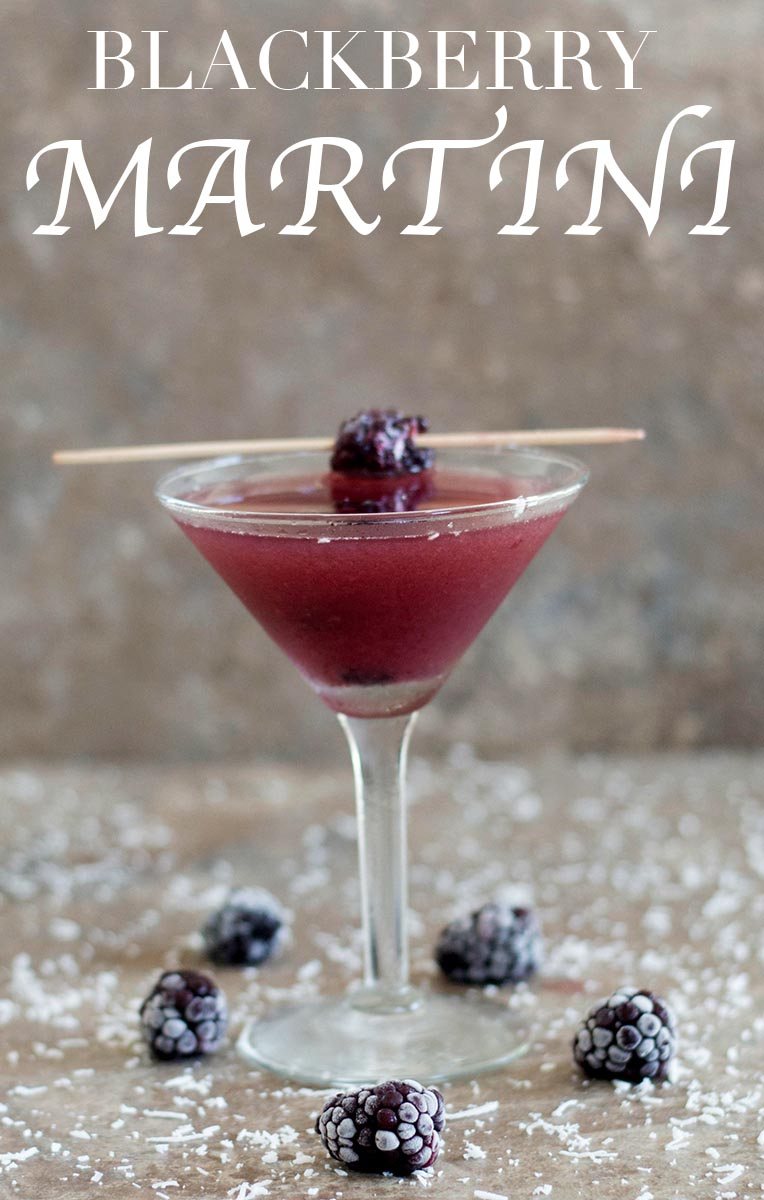 Blackberry martini with coconut rum healing tomato recipes for Best gin for martini recipes