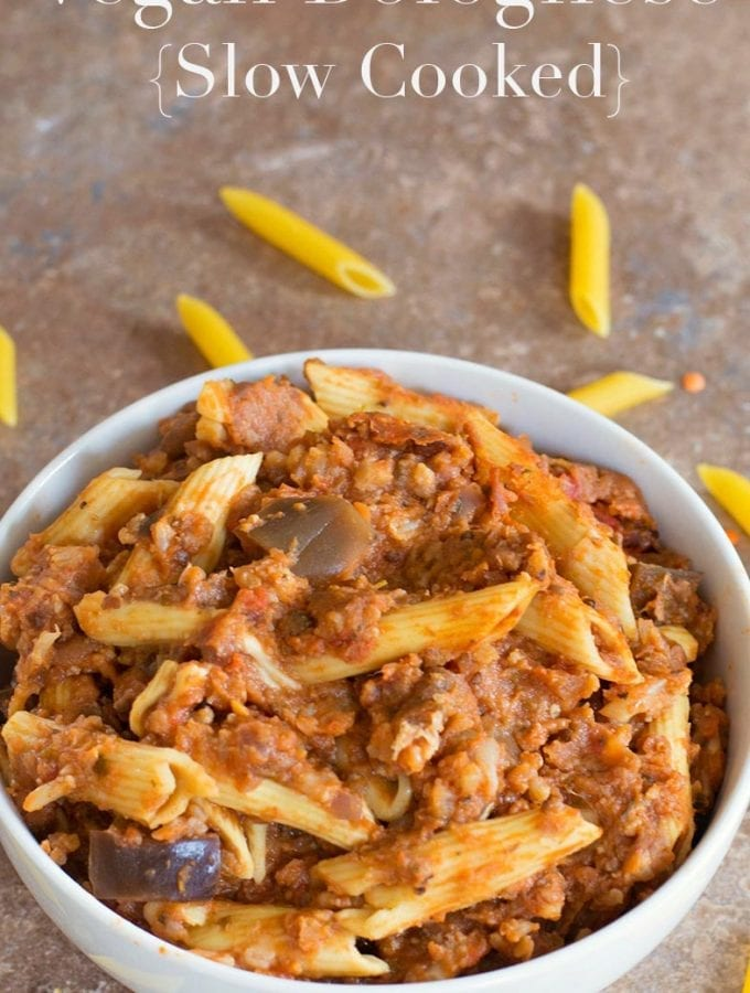 Vegan Bolognese Sauce In Slow Cooker