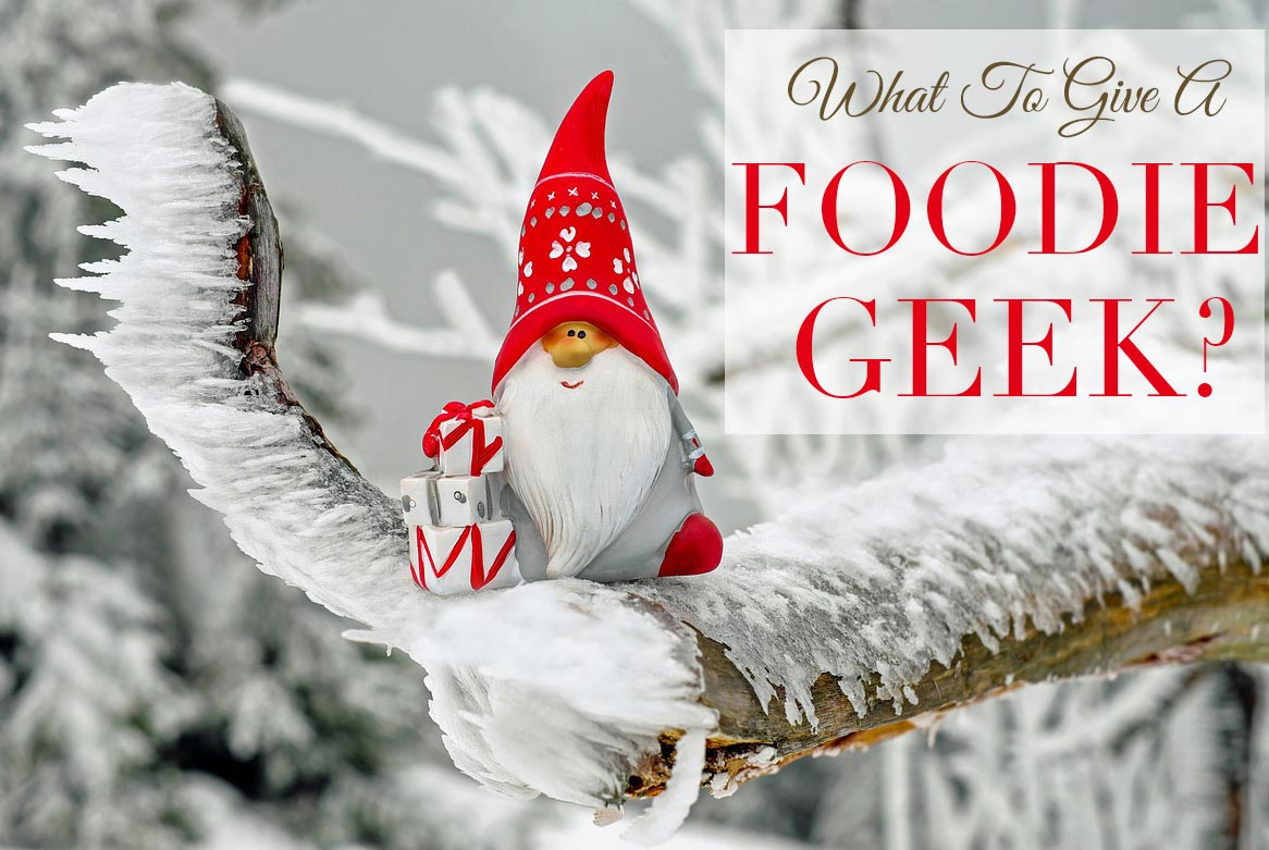 What do you give the foodie geek? This gift guide includes stocking stuffers, gag gifts, humorous gifts, creative gifts. Perfect for any holiday season