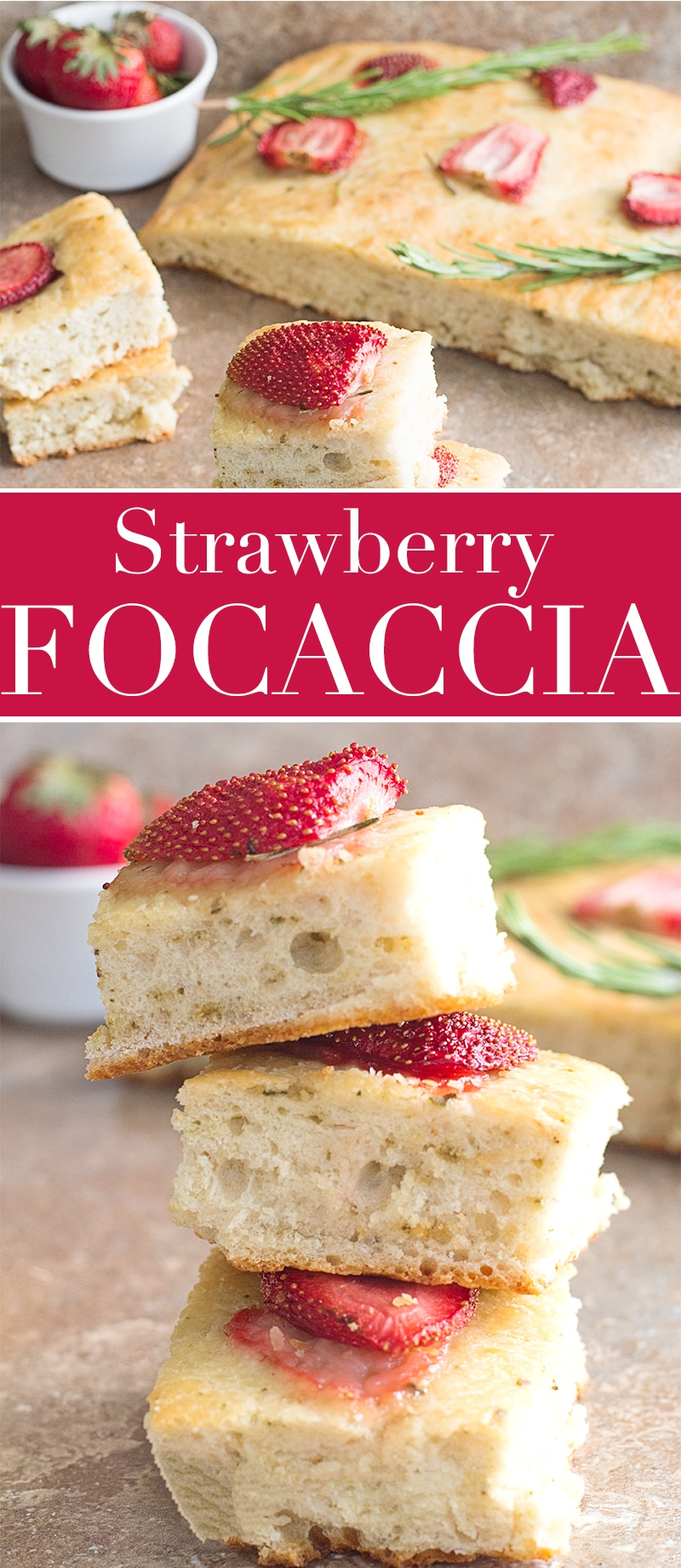 Quick and easy Strawberry Focaccia bread takes only a few ingredients to make and topped with maple glazed Florida Strawberries