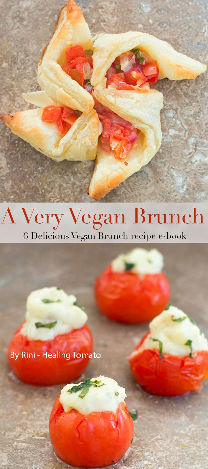 A Very Vegan Brunch - 6 Amazingly delicious vegan brunch recipes that include drinks, appetizers, main course and dessert. Try the over the top virgin bloody Mary and other tomato recipes that are perfect for any brunch menu