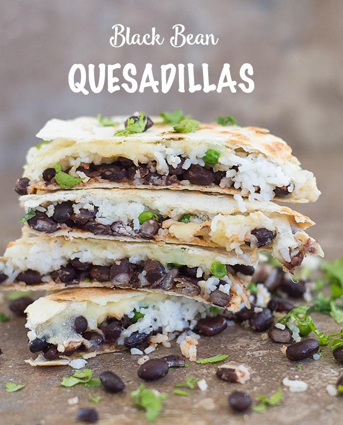 The Easiest Black Bean Quesadillas