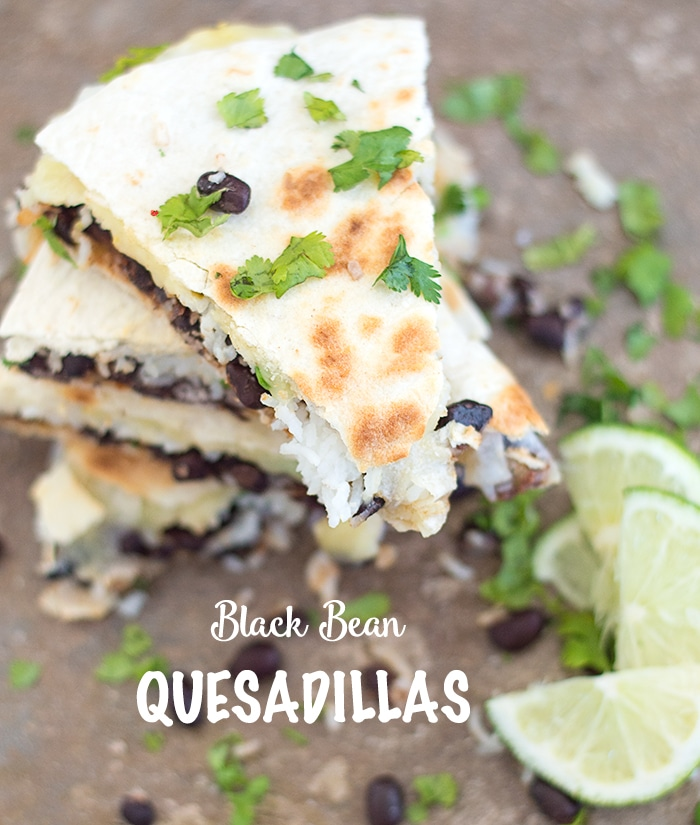 Black Bean Quesadillas With Rice