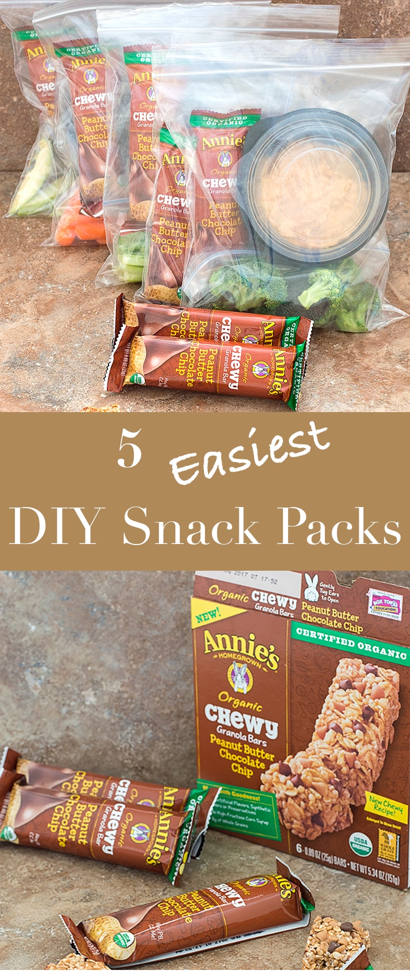 Snacking right is so easy. This DIY Snack Pack takes only 10 minutes to prep and has fresh veggies #ad #organicforeverybunny @annieshomegrown @walmart