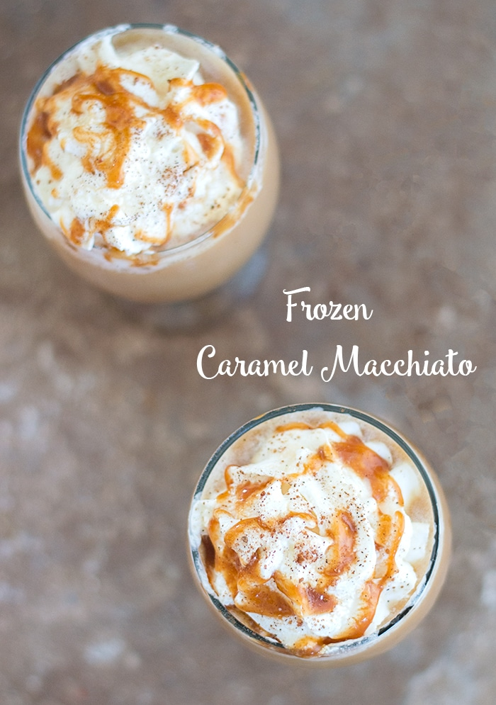 DIY Make your own Frozen Caramel Macchiato