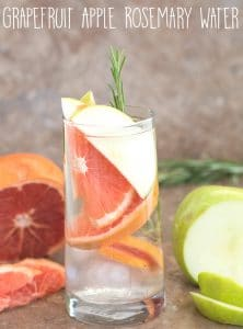 Grapefruit and green apple summer cleansing water