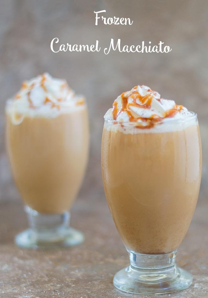 Homemade Frozen Caramel Macchiato