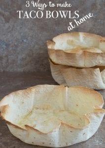 How to make taco bowls at home