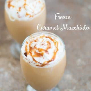 Fight the heat with frozen caramel macchiato