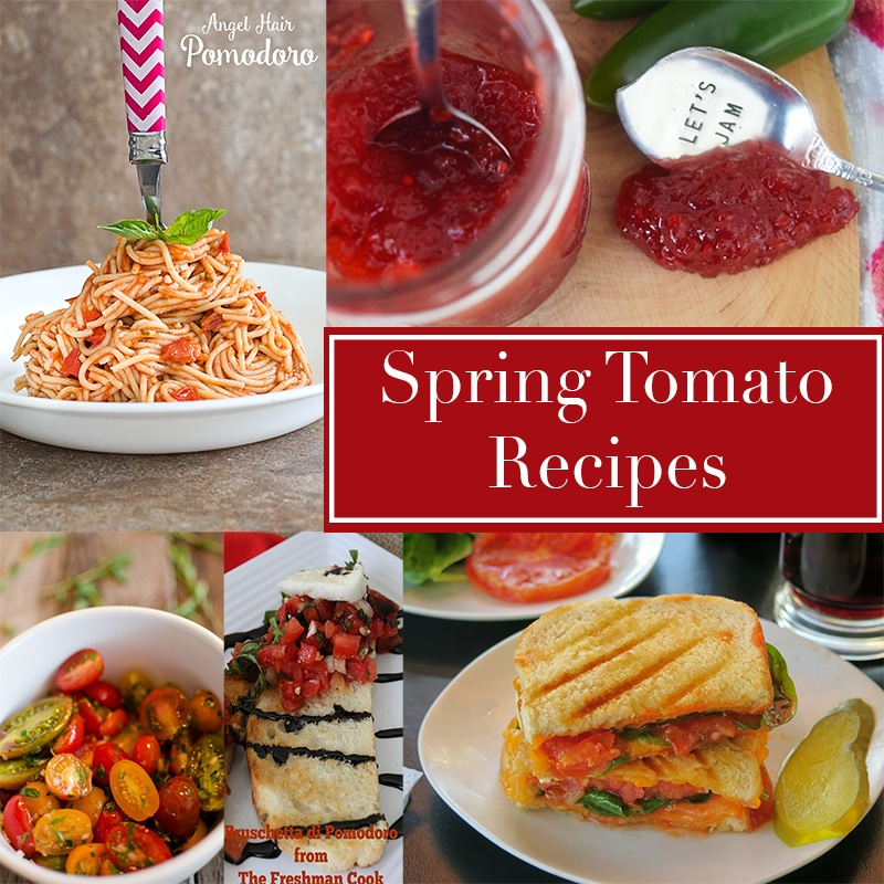 April is Fresh Florida Tomato appreciation month! Get easy spring tomato recipes like desserts, salads, pasta, pizza and soups.