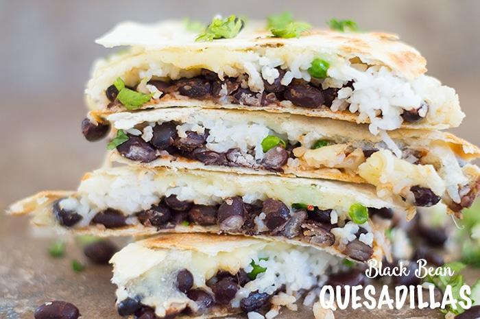 Its so easy to make Black Bean Quesadillas