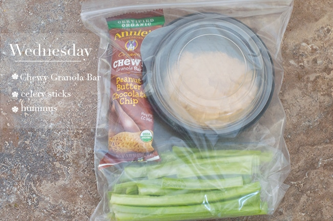 Easy Snack Prep For Wednesday