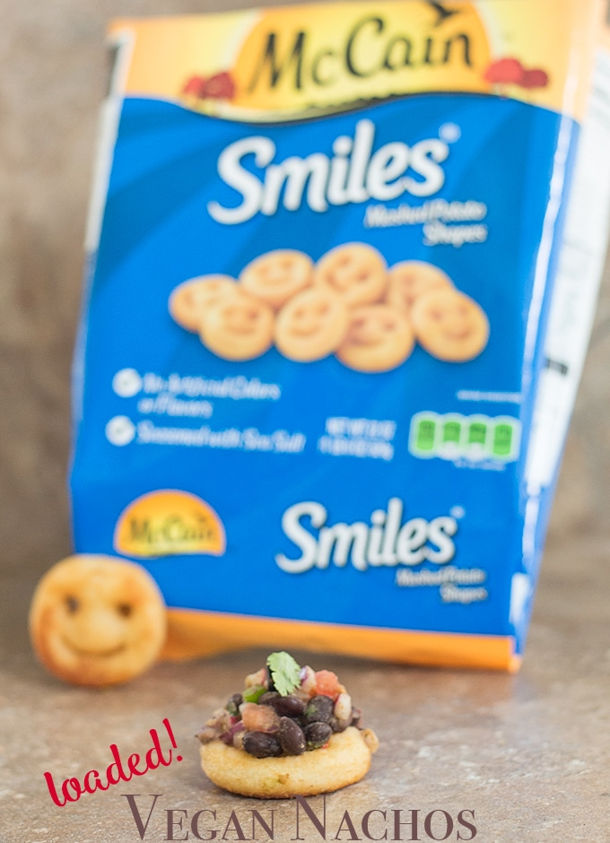 Single Loaded Smiles Nacho Along with McCain Smiles Package