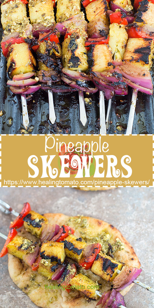 Fresh Grilled Vegan pineapple skewers, Vegetarian pineapple skewers, vegetarian kabob recipes, Summer grilling recipes for vegans, vegetarian Summer grilling recipes, #skewers #pineapple #vegan #veganrecipes #vegetarian #healthy #sides