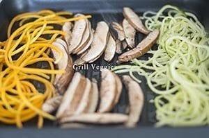 Veggies on the grill - Souvlaki