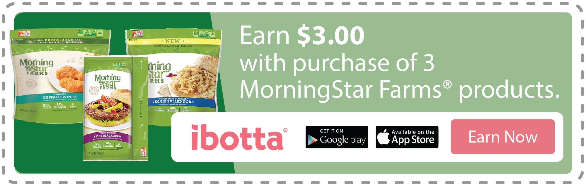 Ibotta coupon for Morning Star Farms
