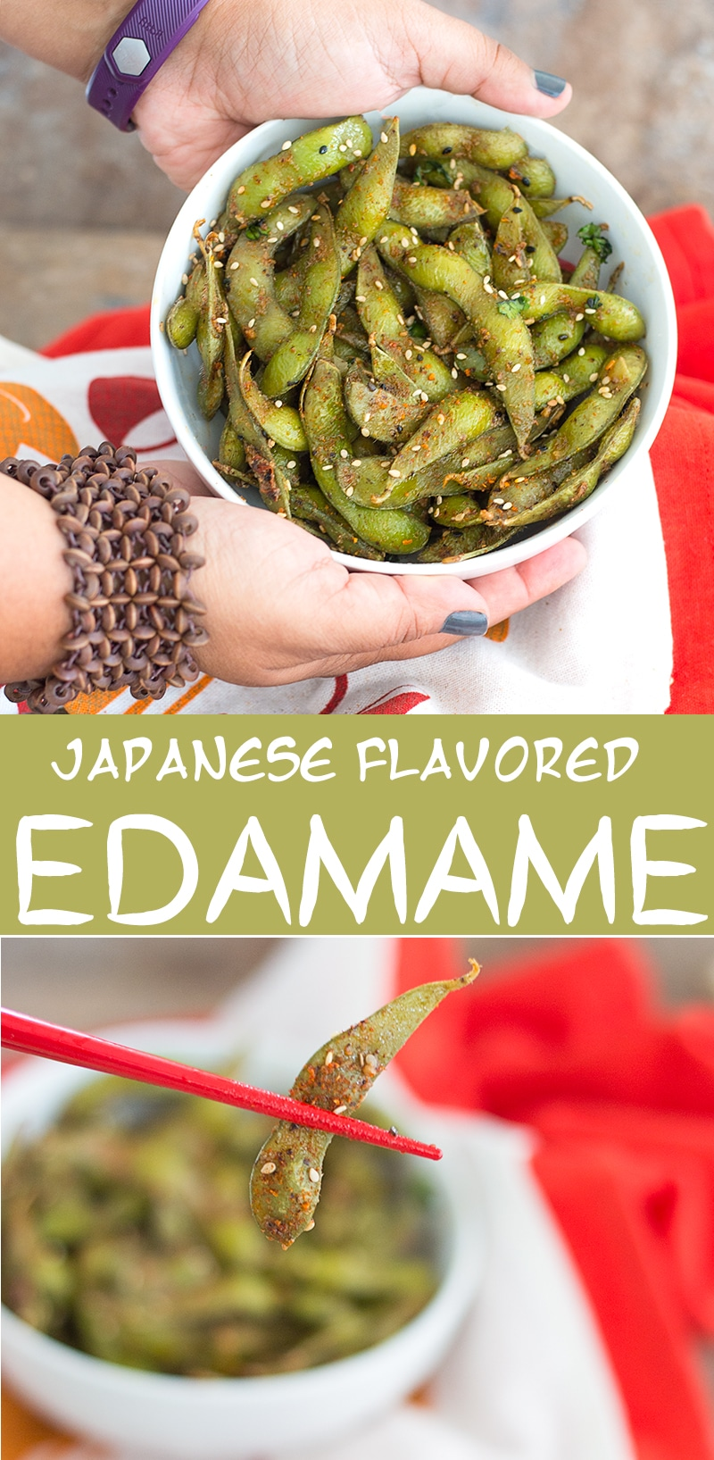 These Edamame Snacks are flavored with Japanese Seven Spices and Sesame Seeds. In under 20 Minutes, You Will Have the Perfect Healthy Snacks with a Kick!