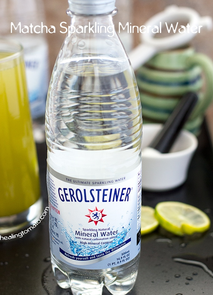 Front View of a Gerolsteiner Sparkling Mineral Water