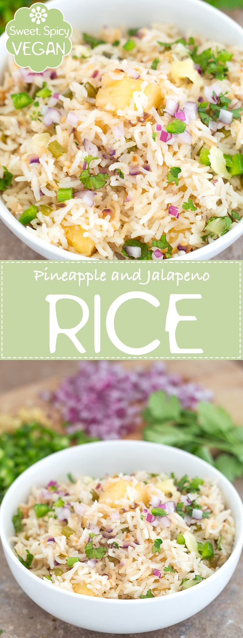 Quick and Easy Fried Rice Made with Pineapples and Jalapeno. This Vegan Pineapple Rice is the Perfect Side Dish or and a Lunch Recipe.