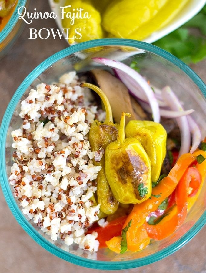 Quinoa Fajita Bowls With Meal Prep Options
