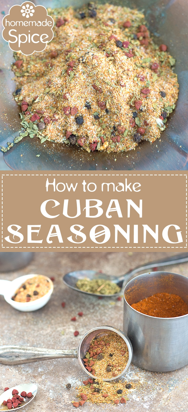 Add a Latin kick to Your Meals by Using this Homemade Cuban Seasoning. Its Quick, Easy and Has A Long Shelf Life. The Annatto Seeds are the Perfect Base for this Spice. | DIY, How to ideas, How to make spices at home, Cuban Cusine