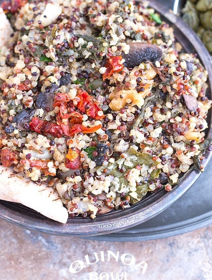 Quinoa Bowl – Rustic and Vegan