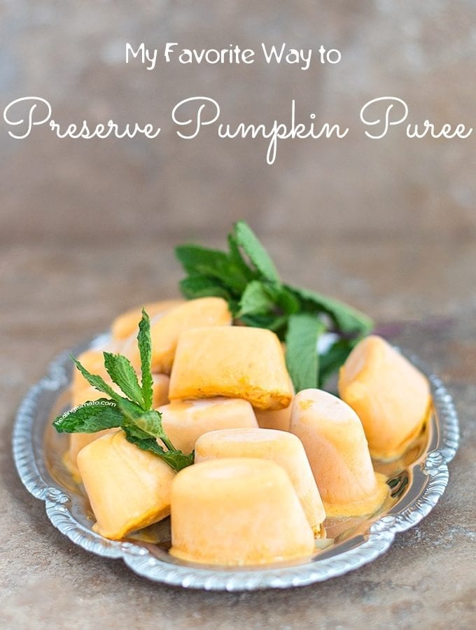 My Favorite Way To Preserve Pumpkin Puree