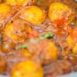Vegan Bombay Potatoes done cooking